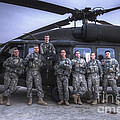 Group Photo Of Uh-60 Black Hawk Pilots by Terry Moore
