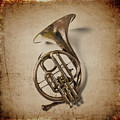 Grunge French Horn by Garry Gay