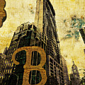 Grungy Melbourne Australia Alphabet Series Letter B Central Busi by Beverly Claire Kaiya