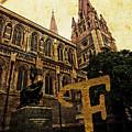Grungy Melbourne Australia Alphabet Series Letter F Captain Matt by Beverly Claire Kaiya
