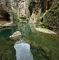 Guadalevin River At El Tajo Gorge From The Bottom Of The Secret  by Reimar Gaertner