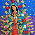 Guadalupe With Stars by Candy Mayer