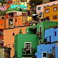 Guanajuato Hillside 2 by Mexicolors Art Photography