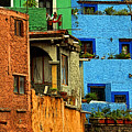 Guanajuato Hillside 3 by Mexicolors Art Photography