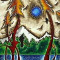 Guardians Of The Wild Original Madart Painting by Megan Duncanson