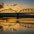 Guffey Bridge At Sunset Idaho Landscapes By Kaylyn Franks by Omaste Witkowski