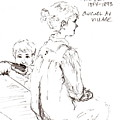 Guigol Au Village Study by Diane Daigle