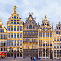 Guild Houses At The Grote Markt by Werner Dieterich