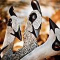 Guineafowl Family by Venetta Archer