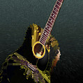 Guitar Abstract by MS  Fineart Creations