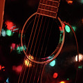 Guitar And Lights by Barbara Treaster