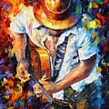 Guitar And Soul by Leonid Afremov