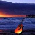 Guitar At Sunrise by Ken Figurski