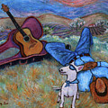Guitar Doggy And Me In Wine Country by Xueling Zou