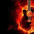 Guitar On Fire by FL collection