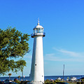 Gulf Coast Lighthouse Seascape Biloxi Ms 3663c by Ricardos Creations