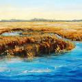 Gulf Coast Marsh I Original Fine Art Painting by G Linsenmayer