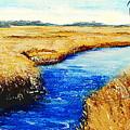 Gulf Coast Marsh II Detail Original Fine Art Painting by G Linsenmayer