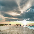 Gulf Shores Al Pier Seascape Sunrise 152c by Ricardos Creations