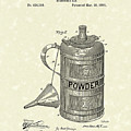 Gunpowder Can 1890 Patent Art  by Prior Art Design
