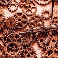 Guns Of Machine Mechanics by Jorgo Photography - Wall Art Gallery