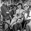 Gunsmoke Cast James Arness Amanda Blake And Burt Reynolds by Peter Nowell