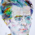 Gustav Mahler - Watercolor Portrait.3 by Fabrizio Cassetta