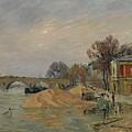 Gustave Loiseau 1865 - 1935 Marie Bridge In Paris by Adam Asar