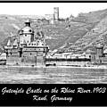 Gutenfels Castle On The Rhine, Kaub, Germany, 1903, Vintage Phot by A Gurmankin
