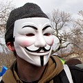 Guy Fawkes Mask At Political Demonstration by Ben Schumin