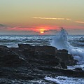 Gwithian Beach Sunset  by Claire Whatley