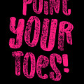 Gymnastics Point Your Toes Hot Pink Gymnast Light by J P