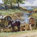 Gypsy Encampment by John Atkinson