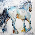 Gypsy Vanner Motion Paint Sketch by Marcia Baldwin