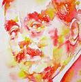 H. G. Wells - Watercolor Portrait by Fabrizio Cassetta