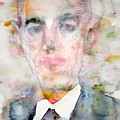 H. P. Lovecraft - Watercolor Portrait.3 by Fabrizio Cassetta