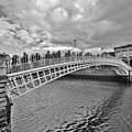 Ha' Penny Bridge In Black And White by Marisa Geraghty Photography