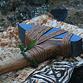 Hafted Hawaiian Adze Wailea Maui Hawaii by Sharon Mau