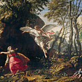 Hagar And Ishmael In The Wilderness by Francesco Cozza