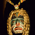 Haida Carved Wooden Mask 4 by Bob Christopher
