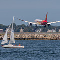 Hainan Airlines 787 Dreamliner Landing At Logan by Brian MacLean