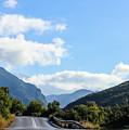 Hairpin Curve On Greek Mountain Road by Susan Vineyard