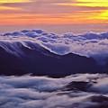 Maui Hawaii Haleakala National Park Golden Dawn by Jim Cazel