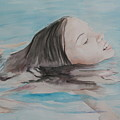Haley In The Pool by Charlotte Yealey