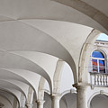 Half Arched Portal Of The Minorite Monastery Cloister Attached T by Reimar Gaertner