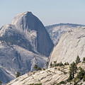 Half Dome And Yosemite Valley From Olmsted Point Tioga Pass Yosemite California Dsc04246 by Wingsdomain Art and Photography