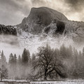 Half Dome In Winter by Connie Cooper-Edwards