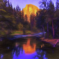 Half Dome Sunset by Daniel Penn