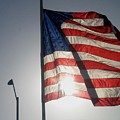 Half Mast Flag Honoring President Ronald Reagan Number 2 Casa Grande Arizona June 2004 by David Lee Guss
