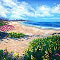 Half Moon Bay In Bloom by Laura Iverson